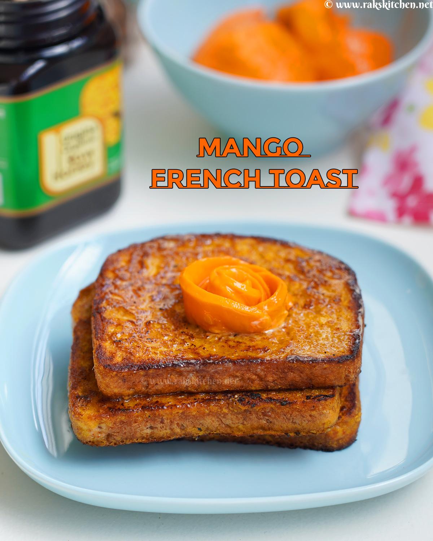 eggless mango French toast