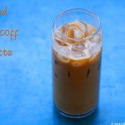 biscoff iced latte drink