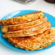Cheesy potato quesadillas