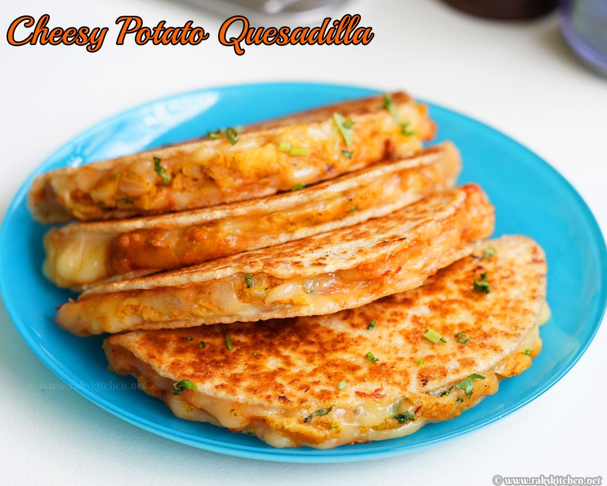 Cheesy potato quesadilla recipe | Kids snacks recipes