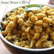 soya bean dry curry