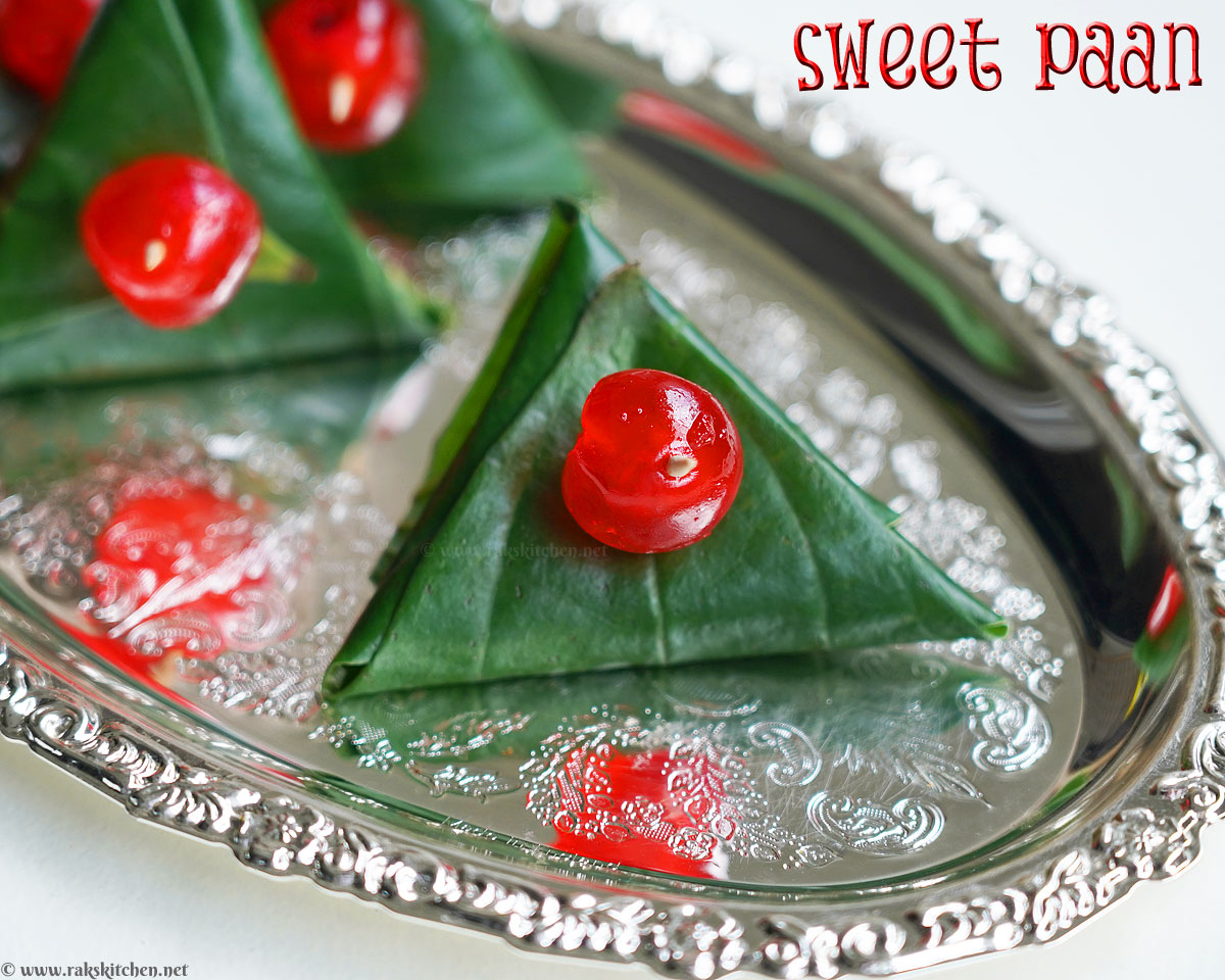 betel leaves with sweet filling
