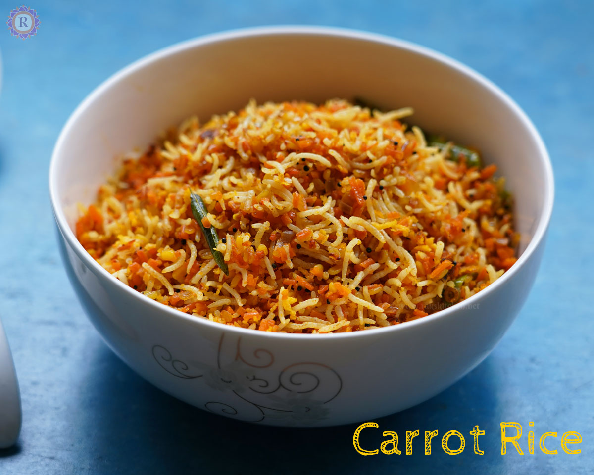 Carrot rice recipe | Easy variety rice for kids