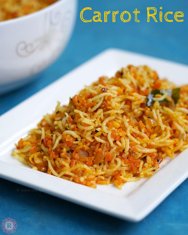 easy carrot rice