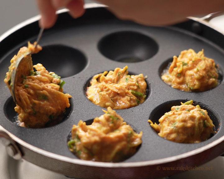 cook lauki kofta in appe pan