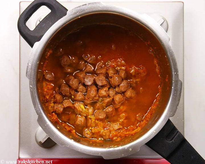 before pressure cooking