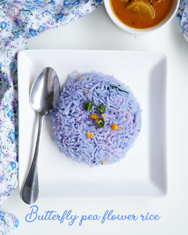 blue rice   Sangu poo sadam