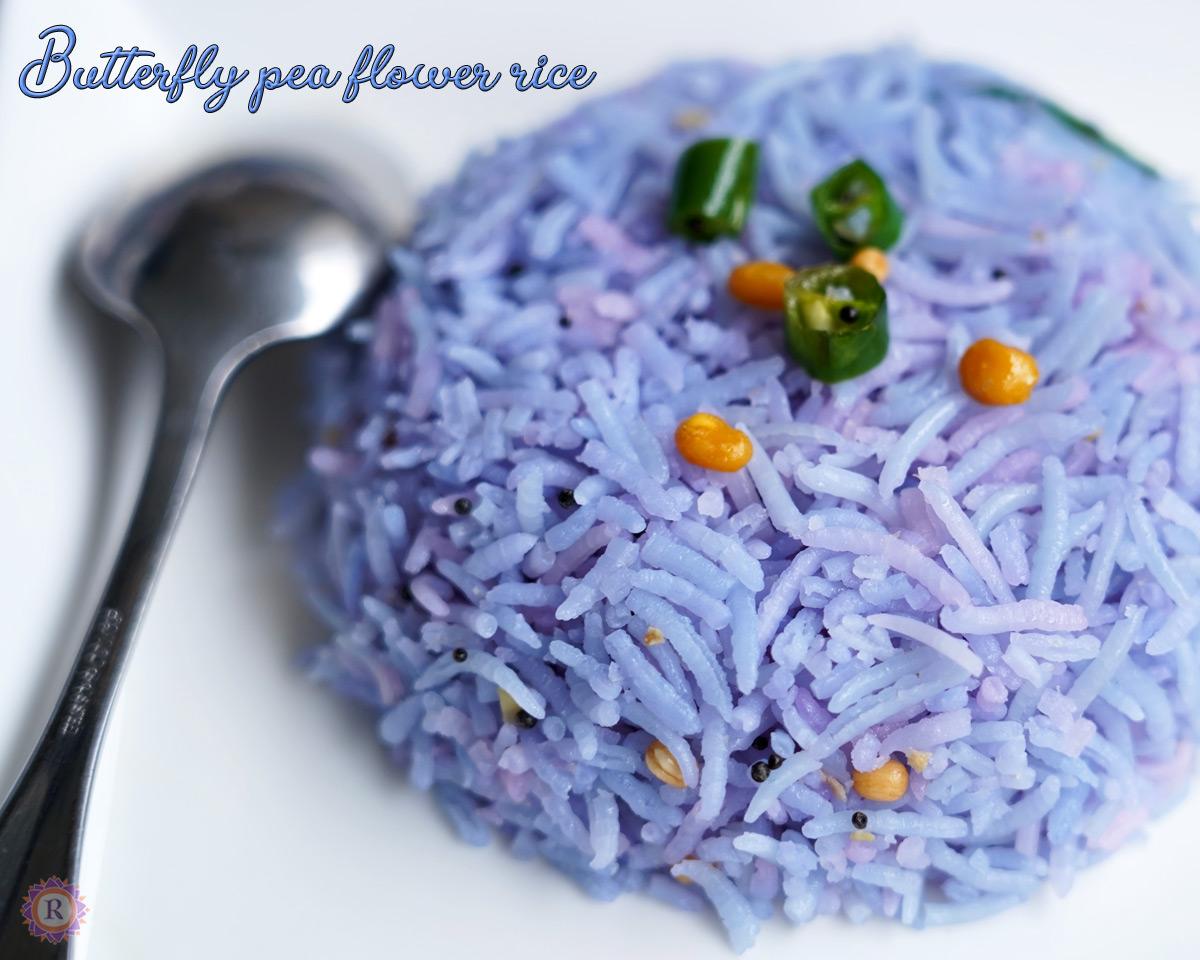 butterfly pea flower rice